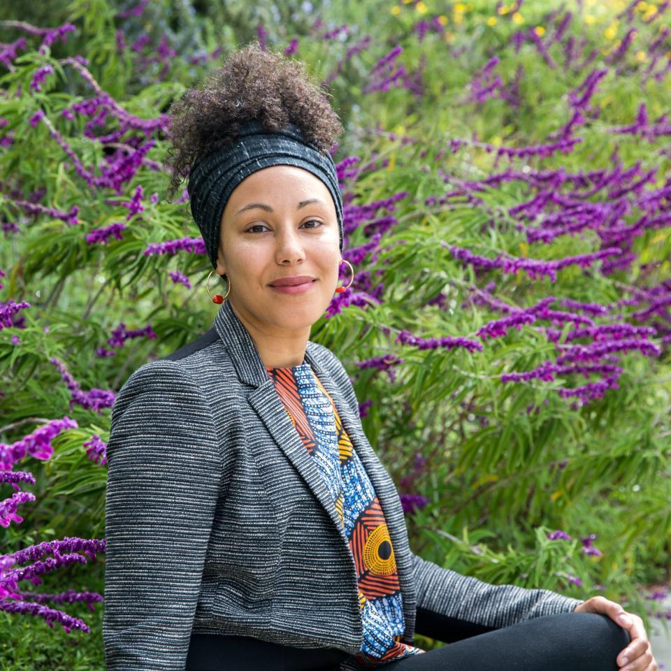 prof. camila hawthorne sitting