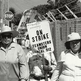 women striking