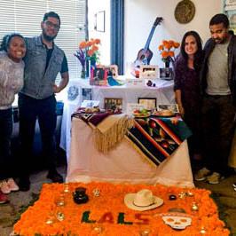 Students in the LALS doctoral program gathered to celebrate Día de los Muertos in November 2019.